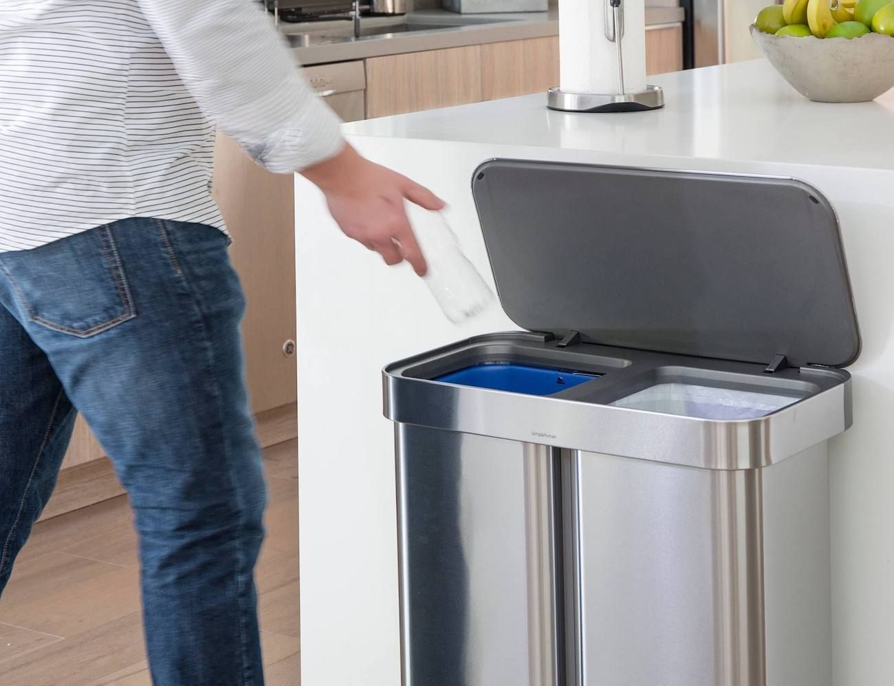 dual compartment trash can stainless steel dual compartment trash cans architecture in 2018 pinterest