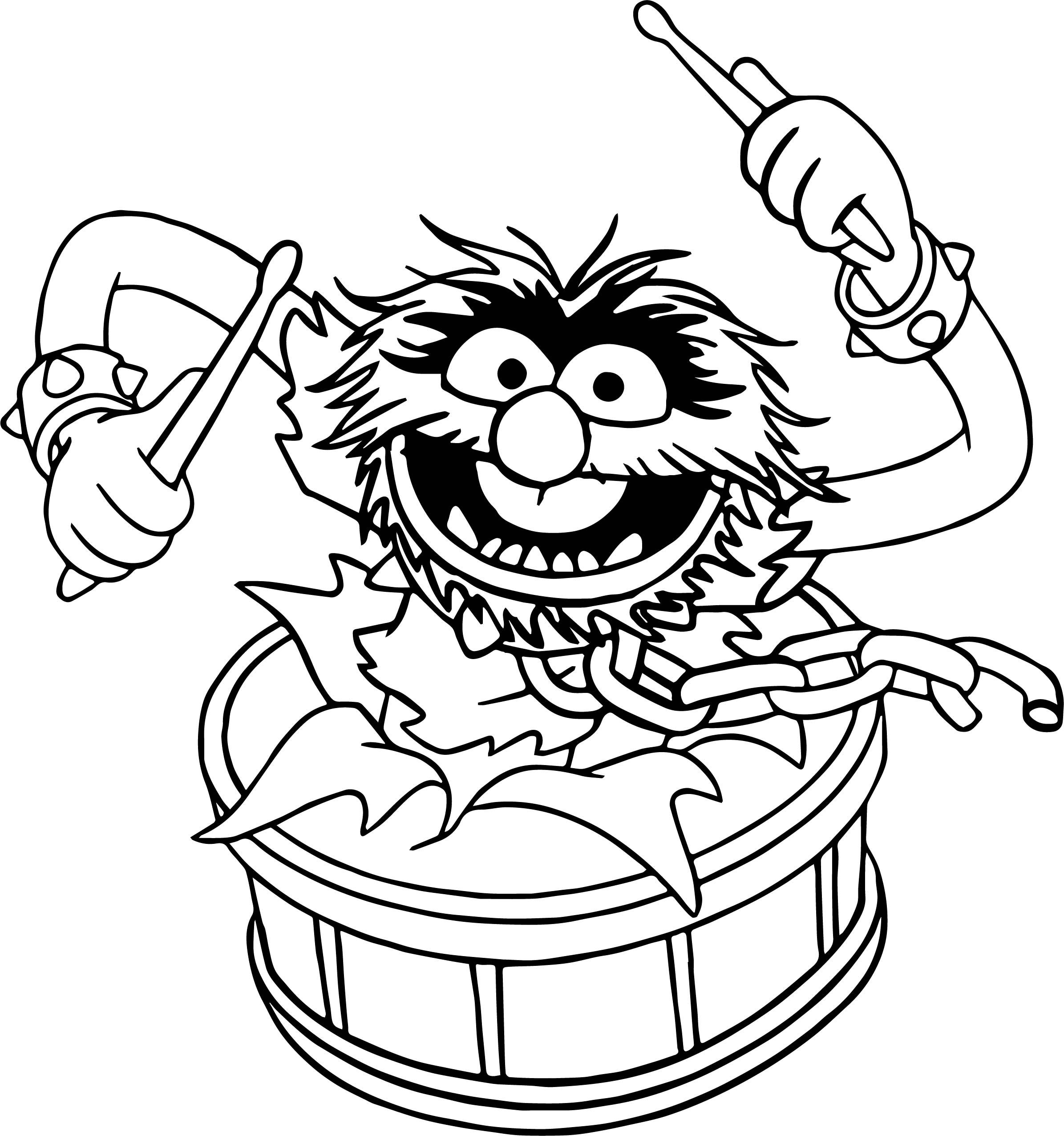 The Muppets Animal Song Coloring Pages Muppets Animal Muppet