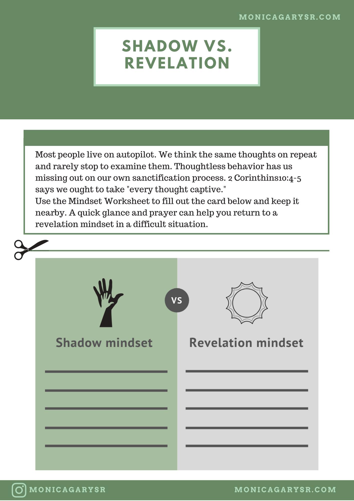Free Printable Mindset Worksheet Get Unstuck