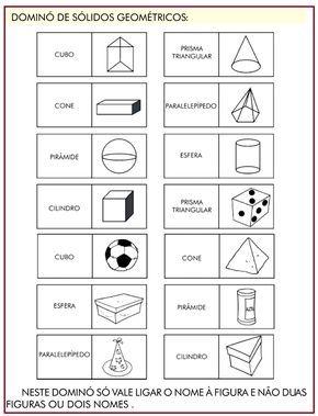 Domino Solidos Geometricos Rerida Maria Atividades De