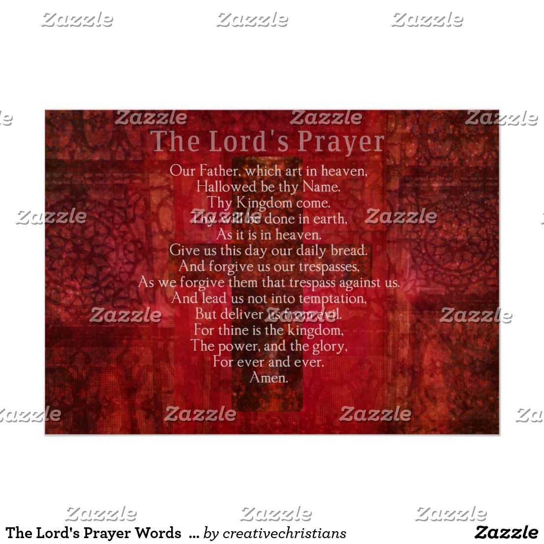 the lords prayer essay Prayer is defined as an act of god, a god or another object of worship, such as in devotion, confession, praise, or thanksgiving when most people pray, they just say the same prayer, like the lord's prayer for example.