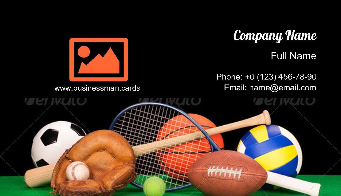Sports Equipment Business Card Template Business Card Template Card Template Download Business Card