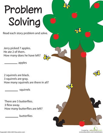 Problem Solving Adding Apples Worksheet Education Com Problem Solving Worksheet Math Problem Solving Math Problem Solving Activities