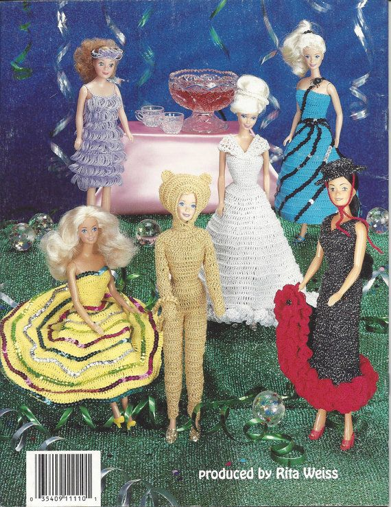 Crochet Pattern Fashion Doll Costume Party by KnitKnacksCreations