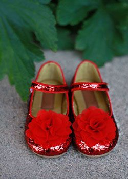 Girls Couture Red Glitter Shoe Youth 3 Only Christmas Style