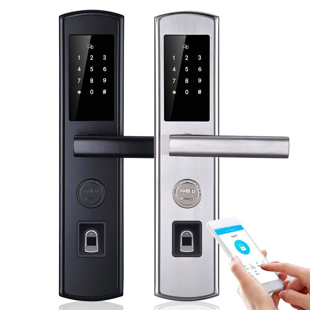 WiFi Biometric Fingerprint Smart Lock,Handle Electronic Door