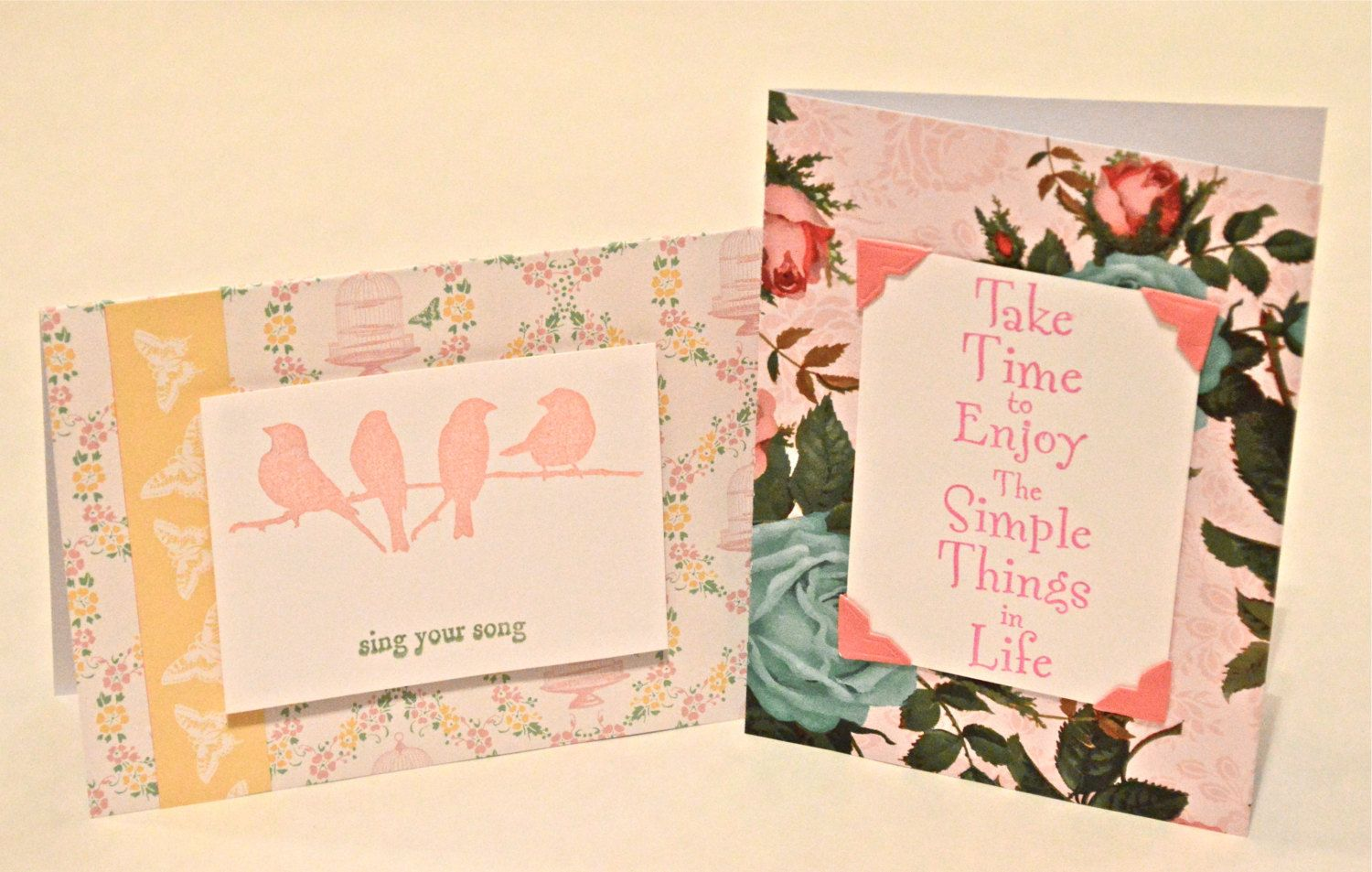 Set of two greeting cards sing your song greeting card take time set of two greeting cards sing your song greeting card take time to enjoy m4hsunfo