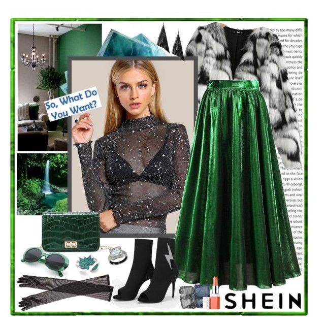 """""""SheIn Glamour Style"""" by carola-corana ❤ liked on Polyvore featuring WithChic, NARS Cosmetics, Dries Van Noten and Clinique"""