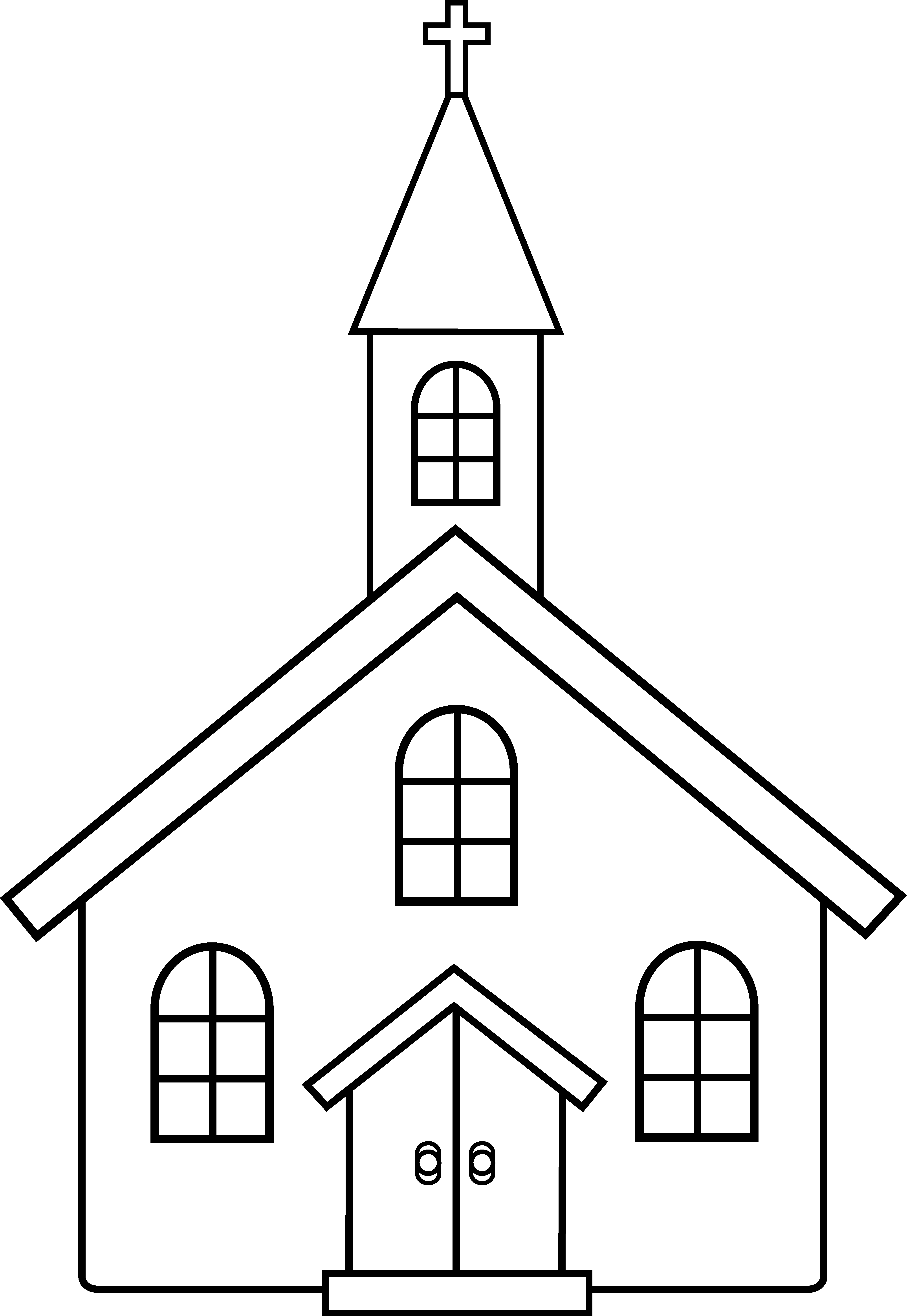 Church Line Art Church images, Coloring pages, Church