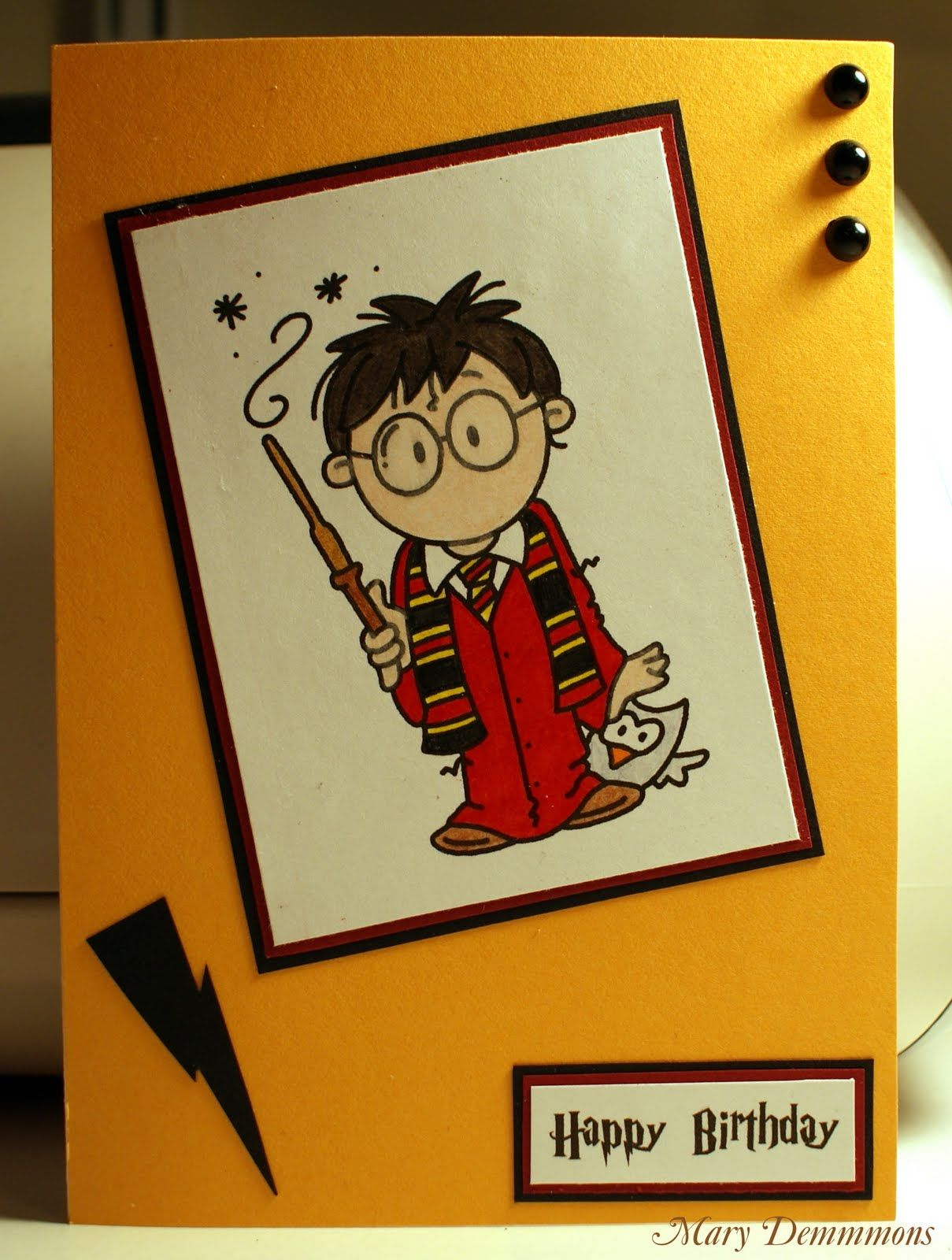 Harry Potter Birthday Card Harry Potter Birthday Cards Harry Potter Cards Harry Potter Birthday