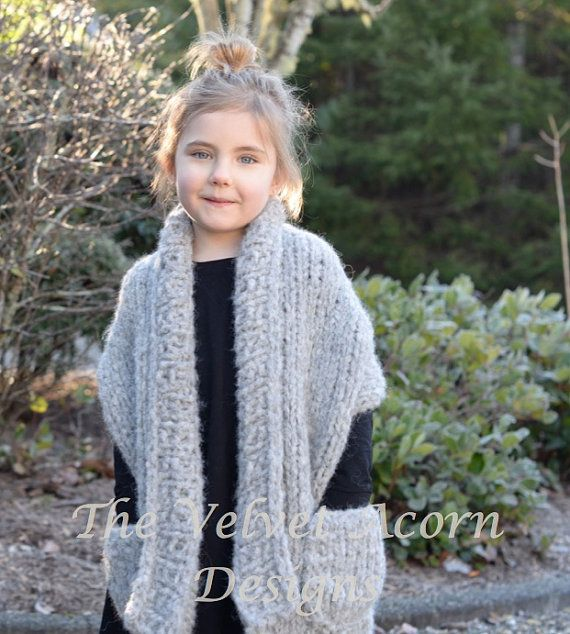 Knitting PATTERN-The Elmy Wrap (2/3, 4/6, 7/9, 10/12, 14/16, Adult ...