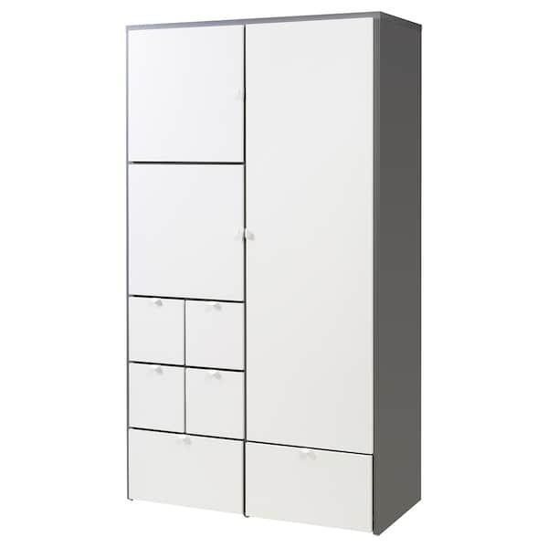 VISTHUS Kleiderschrank grau, weiß IKEA Deutschland