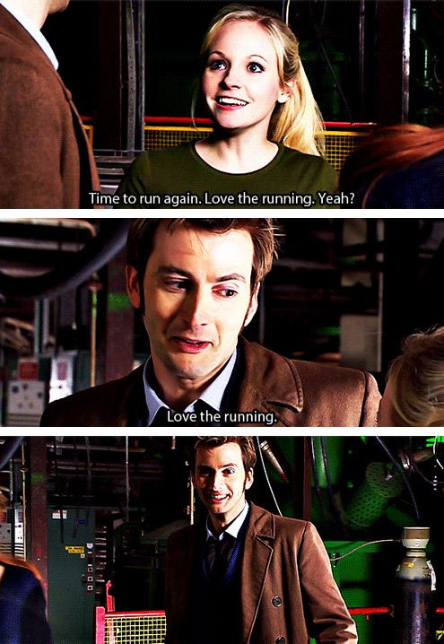"""Love the running."" Ten and Jenny #DoctorWho"