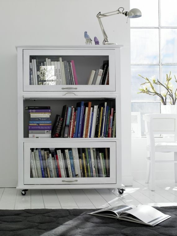 I\'d love to do this to my gram\'s old barrister bookcase. Off white ...