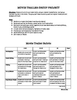Movie Trailer Project Movie Trailers School Technology Movies