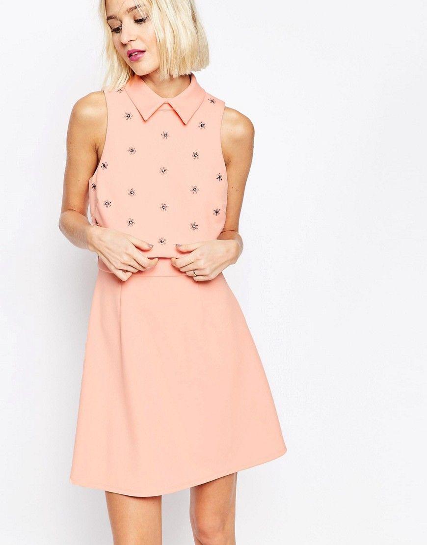 998ba5e5e8b7c3 Asos Embellished Floral Skater Dress – DACC