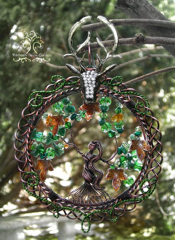 Druantia Celtic Goddess Tree of Life Wire Wrapped Ornament or ...