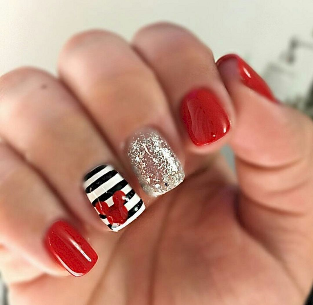 Magical Mickey | Mickey silhouette, Disney nails art and Disney nails