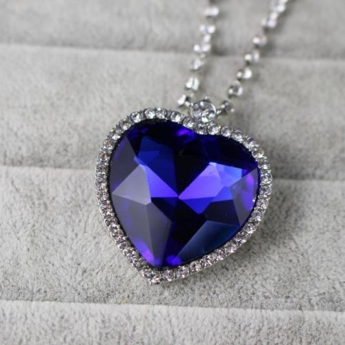 The Heart of The Ocean Sapphire Pendant Necklace