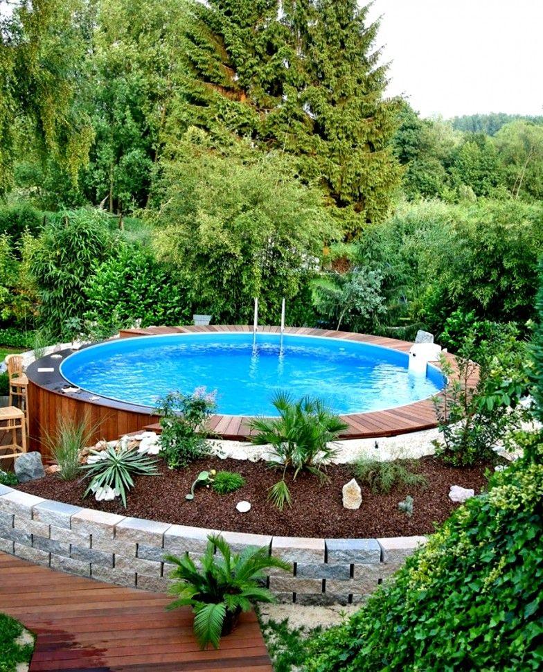 Pool Deko Ideen Deko Ideen Pool Above Ground Pool Landscaping Backyard Pool Landscaping Diy Swimming Pool
