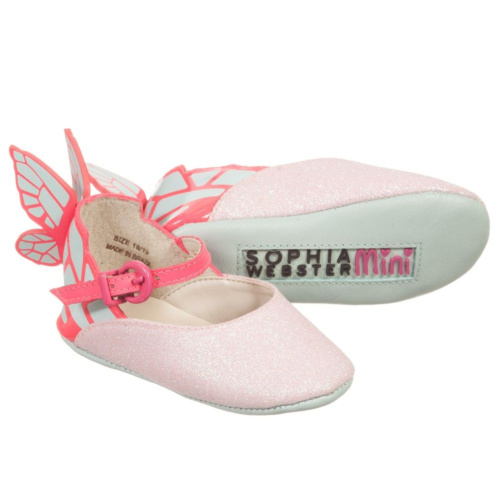 Sophia Webster Mini Baby Girls Pink Butterfly 'Chiara' Shoes at  Childrensalon.com