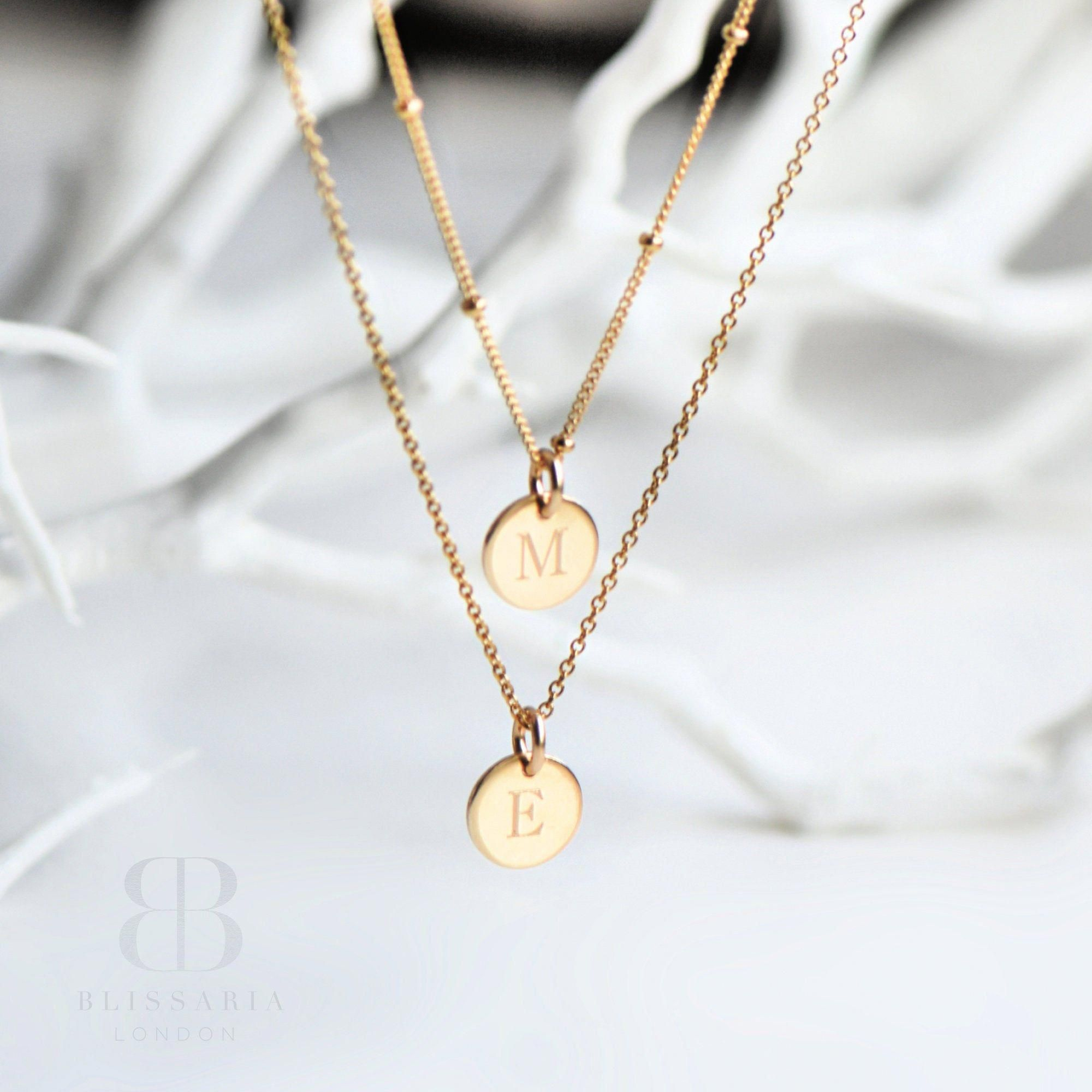Gold pendant Letter charm necklace Gift ideas Personalized necklace bridesmaid gift Initial pendant Tiny 14k gold initial necklace