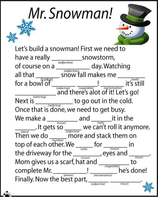 Holiday Mad Libs Printable Ed Tech Ideas Tech Integration For
