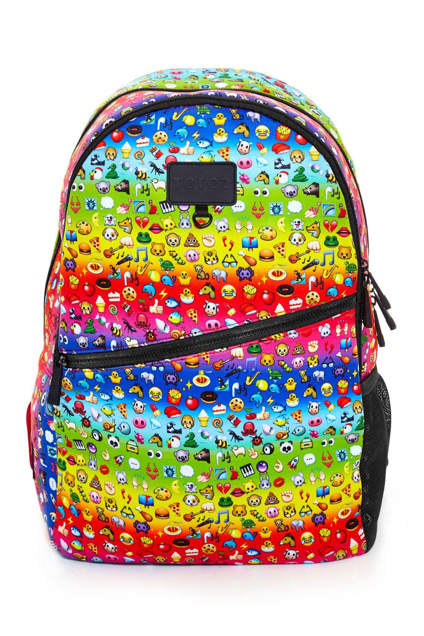 e0f18a3fc738 Sac Rainbow Emoji Backpack. Terez X Go!Sac Rainbow Emoji Backpack Emoji  Backpack