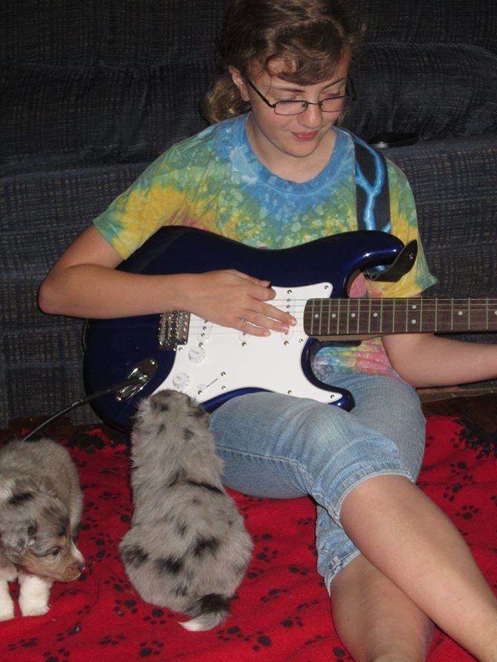 Playing to her favorite audience!