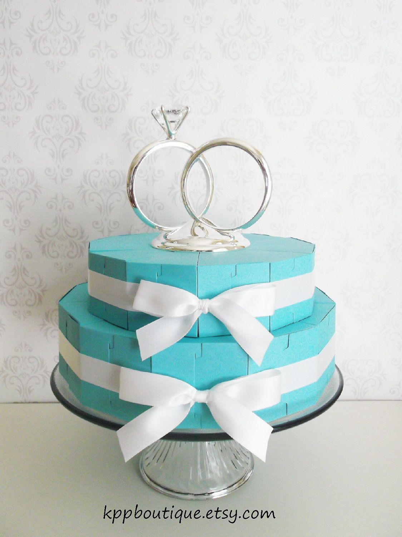 Tiffany & Co. Inspired Cake Slice Favor Box Centerpiece Kit. $28.00 ...