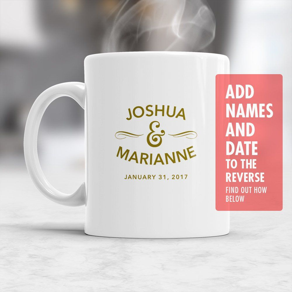 Custom Name Wedding Mug, Design & Print Only, Must Be Ordered With A ...