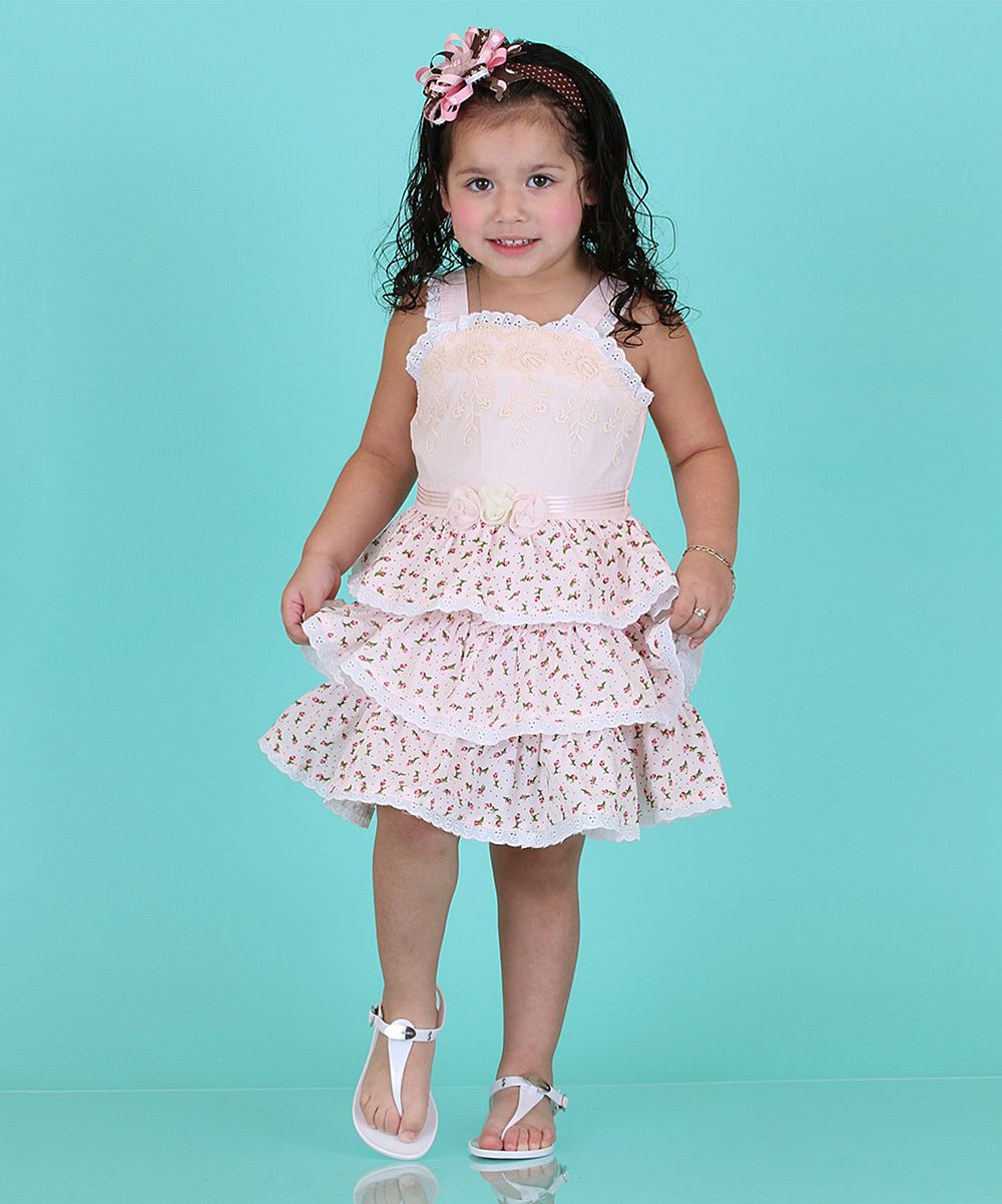 Pink Gardenia Tiered Party Dress - Girls | Products | Pinterest ...
