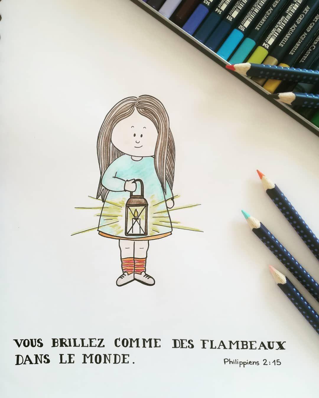 18 mentions J'aime, 1 commentaires - @sespromesses_mescrayons sur Instagram: «#versetillustré #illustration #flambeaux #briller #foi»