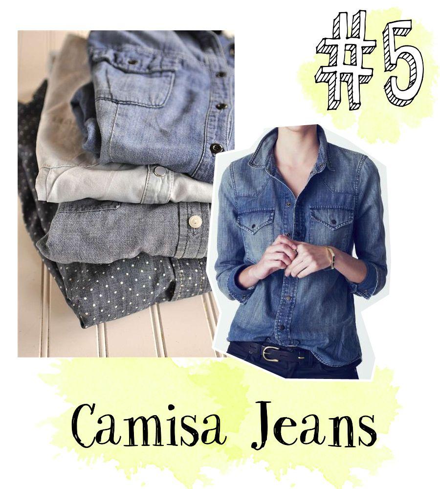 Como usar camisa jeans. Looks com camisa jeans. Denim shirt ootd