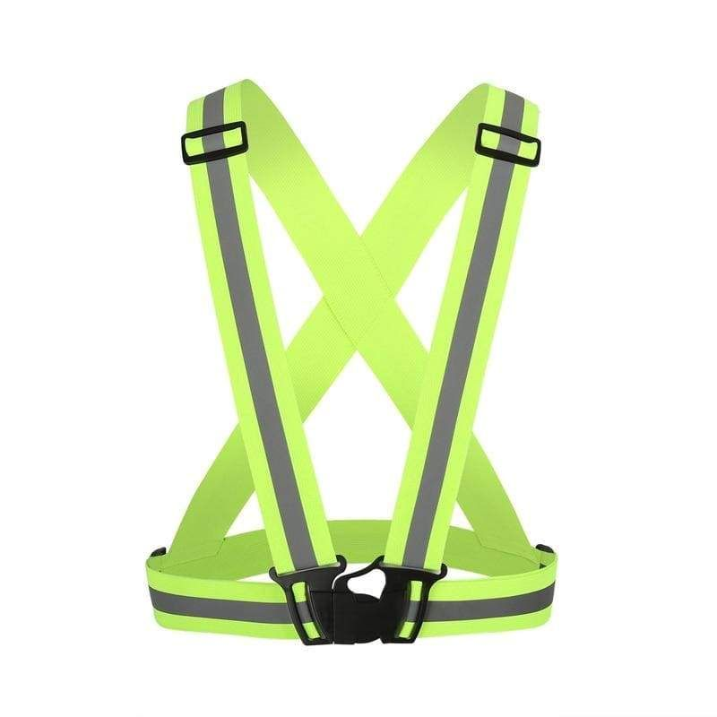 Cycling New Unisex Outdoor Cycling Safety Vest Bike Ribbon Bicycle Light Reflecing Elastic Harness For Night Riding Running Jogging Bicycle Light