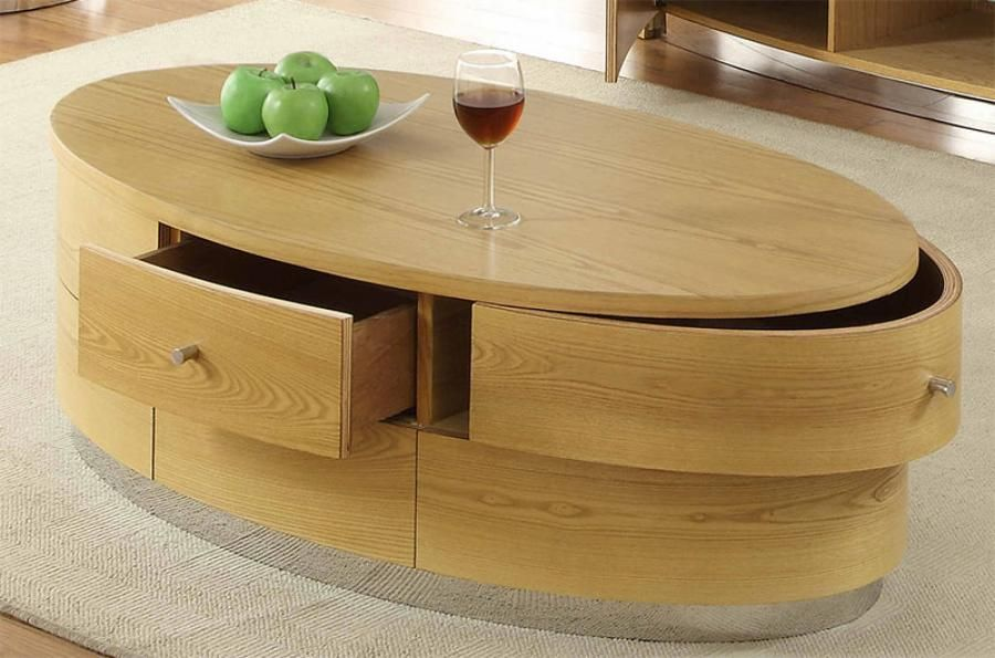 Oval Coffee Table Wood   The Types Of Materials To Find The Best .
