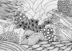 Fond Marin Zentangle Zentangle Kunst Zeichnen