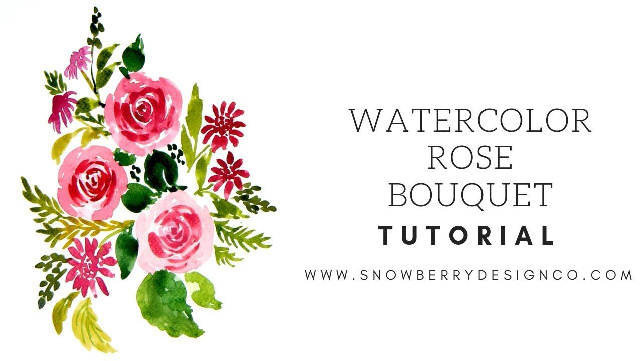 How To Paint Loose Magenta Roses Watercolor Tutorial