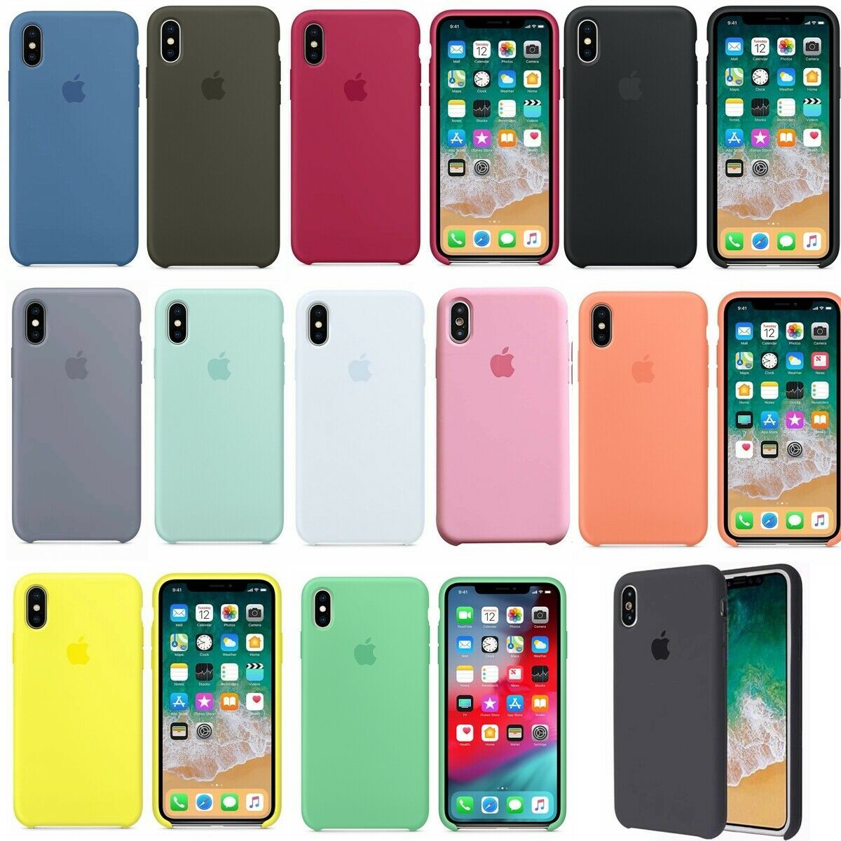 Original Silicone Case OEM Back Cover for Apple iPhone X XR XS Max ...