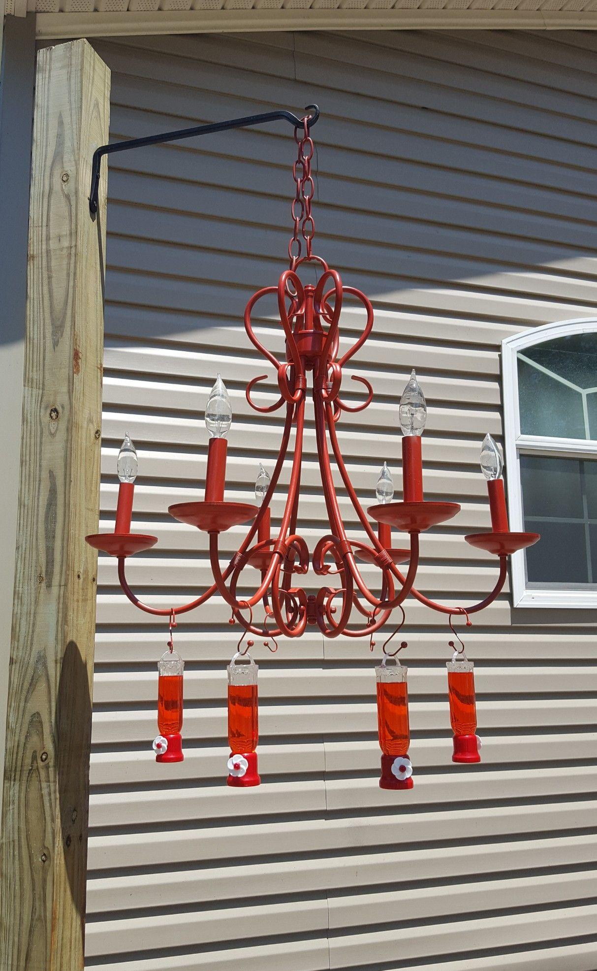 Hummingbird Feeder Chandelier Hummingbird Feeder Refurbished Chandelier Humming Bird Feeders Trending Decor House Architecture Design