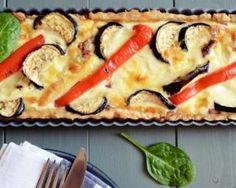 {Low cal} Quiche Croq'Kilos aubergines, poivrons, oignon et curry. A tester sans la pâte pour le soir, 0 féculent !