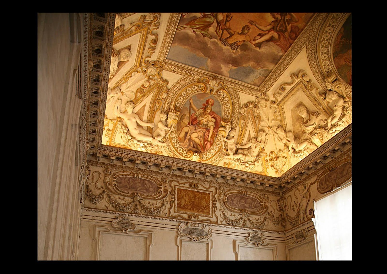 The rich and luxurious interiors of Renaissance Italy were unbelievable. The walls were decorated with frescos by the great artists of the day.