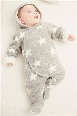 Buy Grey/White Star All-In-One (0mths-2yrs) online today at Next: United States…