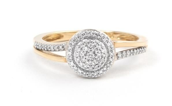 9ct Yellow Or White Gold Diamond Ring Sternscoza