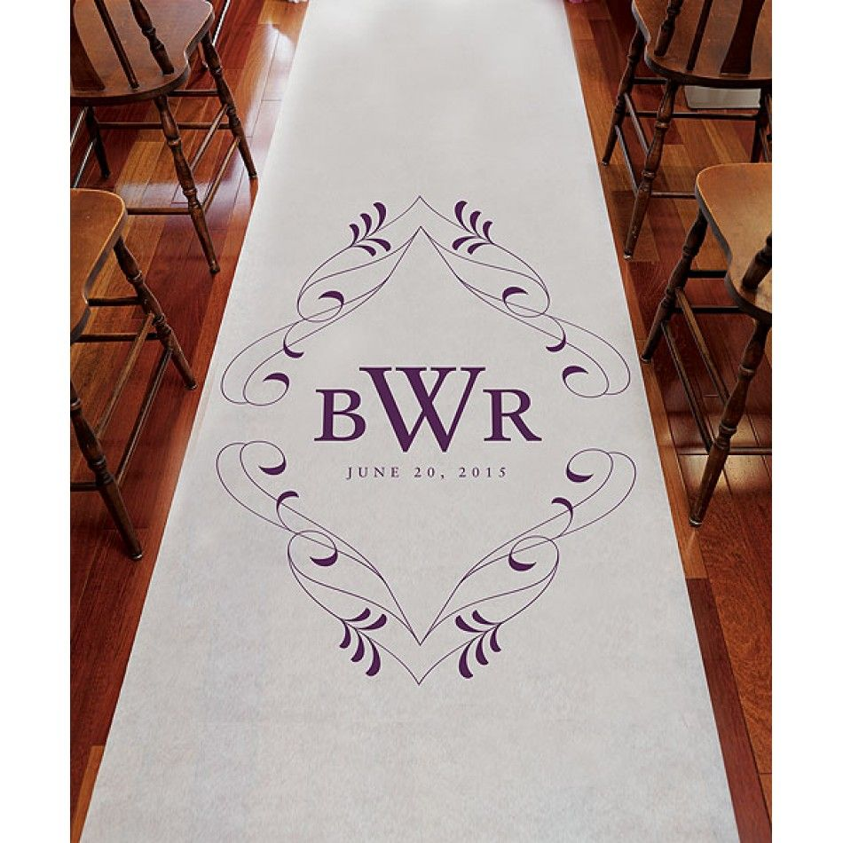 Personalized Flourish Monogram Wedding Aisle Runner [977-1176-P ...