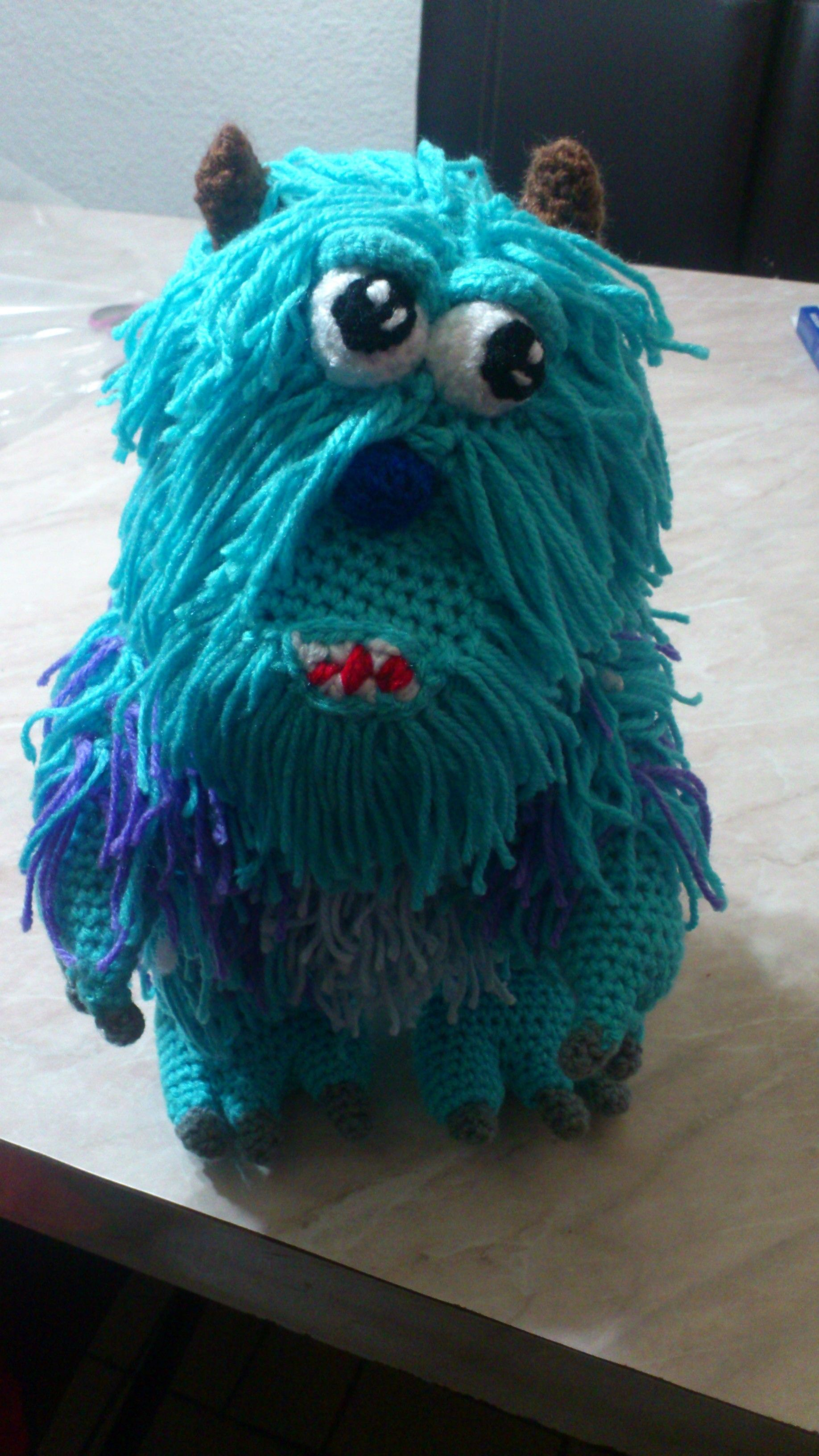 Amigurumi Monster Inc Patrones : Sulley (Monster Inc) NOVEDADES JENPOALI Patrones ...