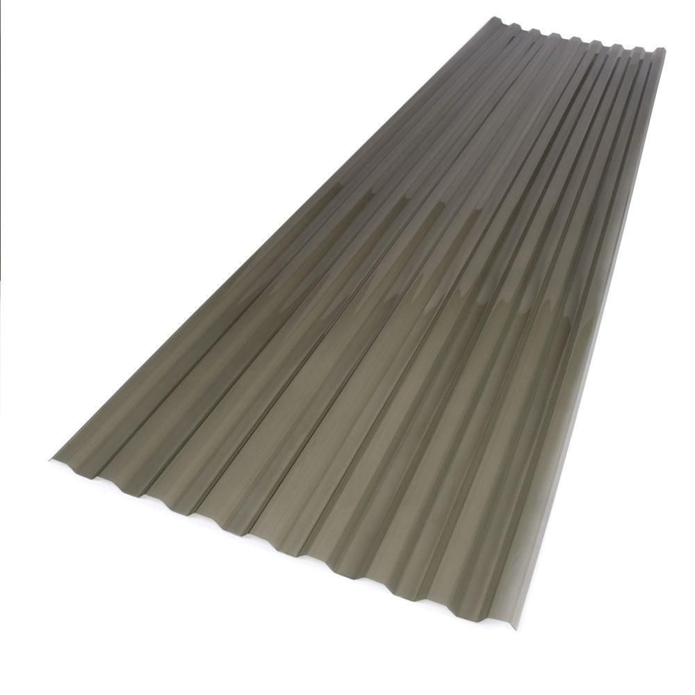 Suntuf 26 In X 12 Ft Polycarbonate Corrugated Roof Panel In Solar Grey 101931 The Home Depot Polycarbonate Roof Panels Corrugated Roofing Roof Panels