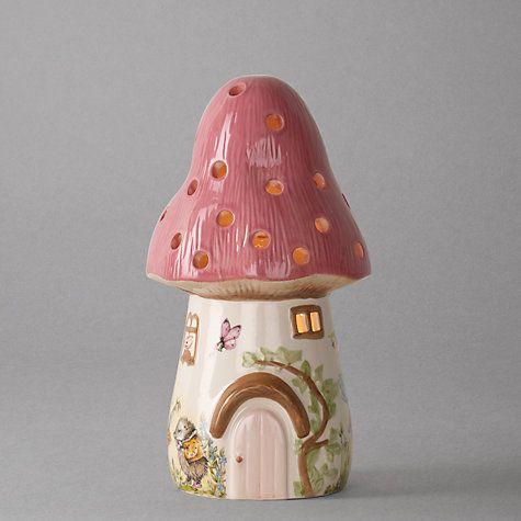Buy White Rabbit Dewdrop Pink Toadstool Children\'s Lamp Online at ...