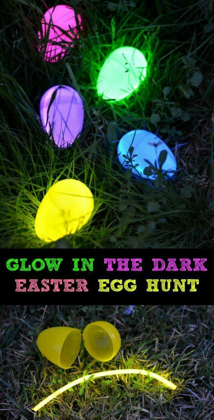 Glow in the dark crafts - Glow In The Dark Easter Egg Hunt