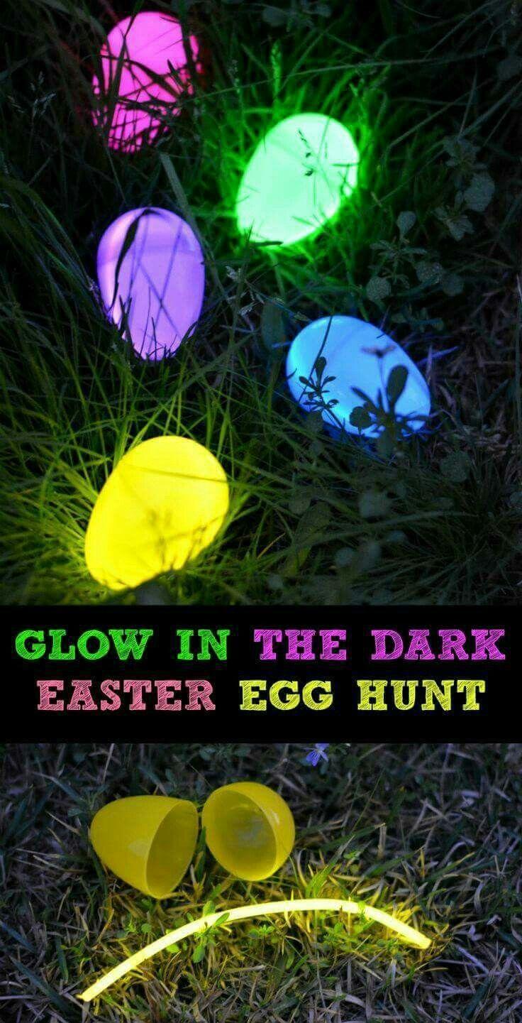 glow in the dark easter egg hunt easter pinterest easter egg